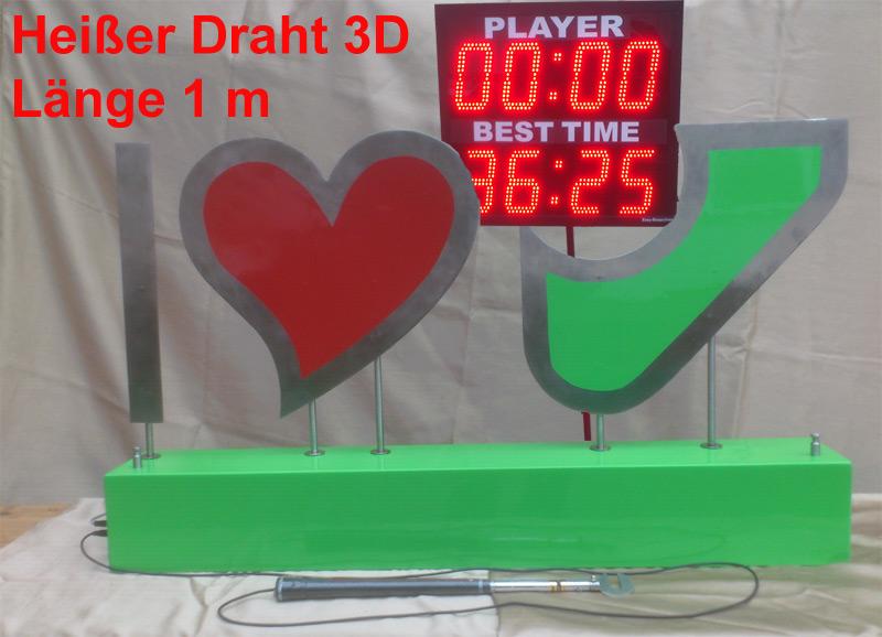 3D Heißer Draht mit neuem Zeitsystem und Berührungsauswertung, EV ...