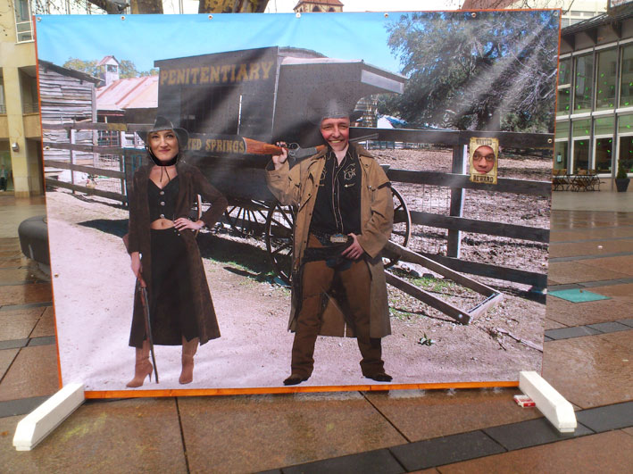 Western Photo Wall für 3 Personen 2,4 X 1,8 m